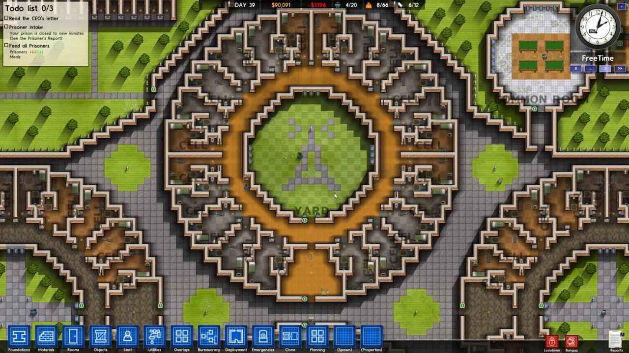 Prison architect launches alpha build 15 pixel perfect for Jail architect