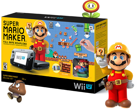 Super Mario Maker Wii U Console System Bundle