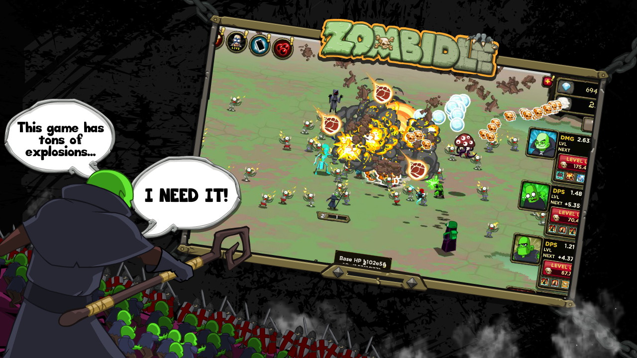 zombidle remonstered � now available on steam 171 pixel